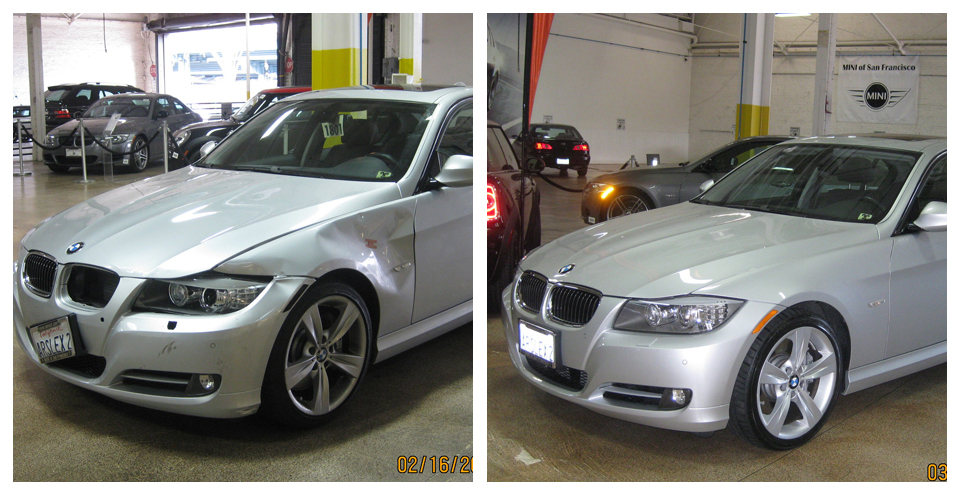 Bmw frozen matte finish paint care german motors for German motors collision center marin street